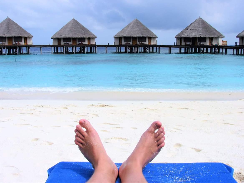 Des vacances aux Maldives avec les doigts de pied en éventail