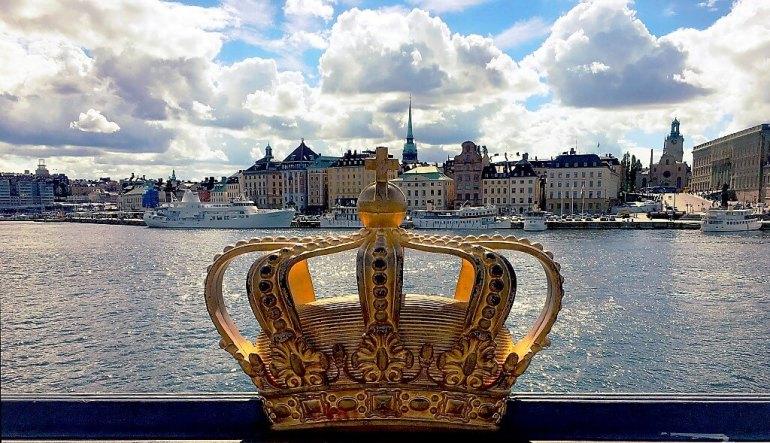 Couronne avec Stockholm derrière