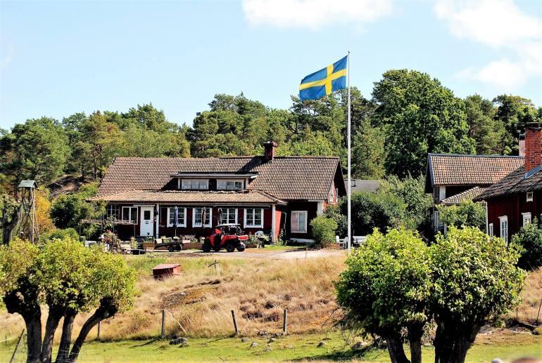 Maison de l'écrivain sur l'ile de Kymmendö en Suède