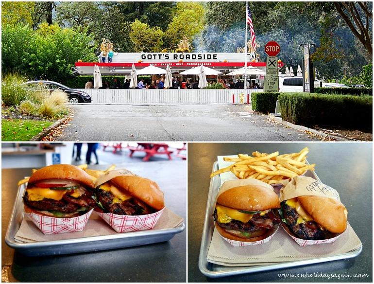 Le meilleur hamburger du monde chez Gotts Roadside à St-Helena à Napa Valley