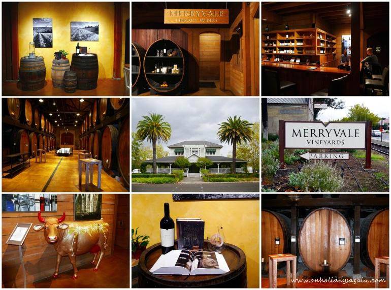 Dégustation de vin chez Merryvale winery à St-Helena à Napa Valley