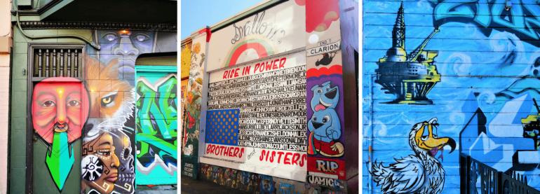 Rue de street art à San Francisco dans Mission District