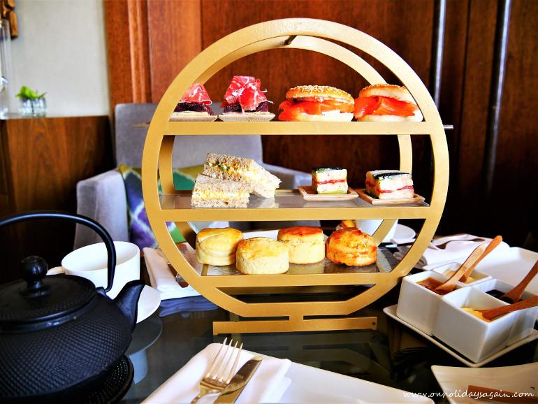 Les sandwichs de l'afternoon tea du Beau-Rivage à Lausanne