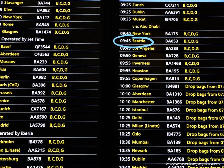 Attente de son vol à Londres Heathrow au Terminal 5