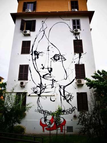 Street art à Rome Danilo Bucchi Assolo Tor Marancia Italie