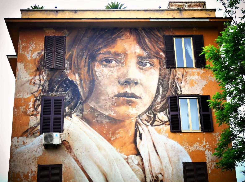 Street art à Rome Guido Van Helten Io sarò Tor Marancia