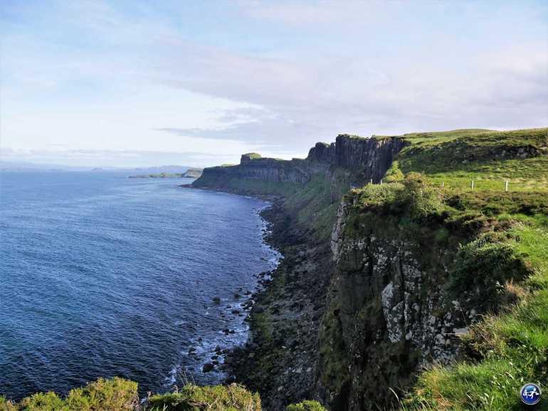 Paysages autour de Kilt Rock sur l'Ile de Skye en Ecosse
