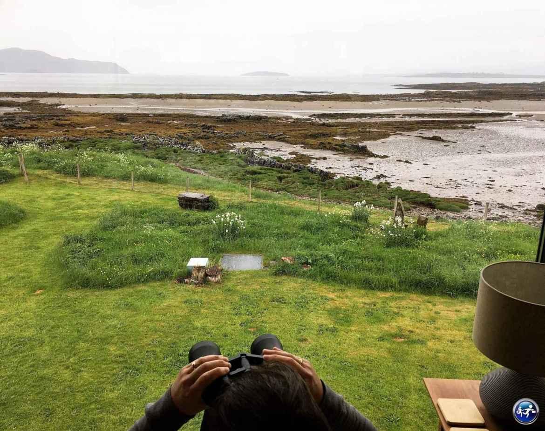 Vue depuis le bed and breakfast Ti an Dochais sur l'Ile de Skye
