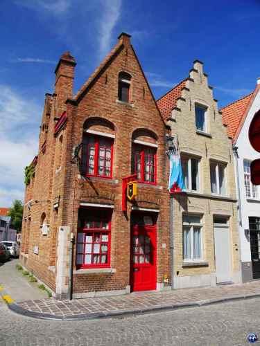 Façade des maisons à voir à Bruges