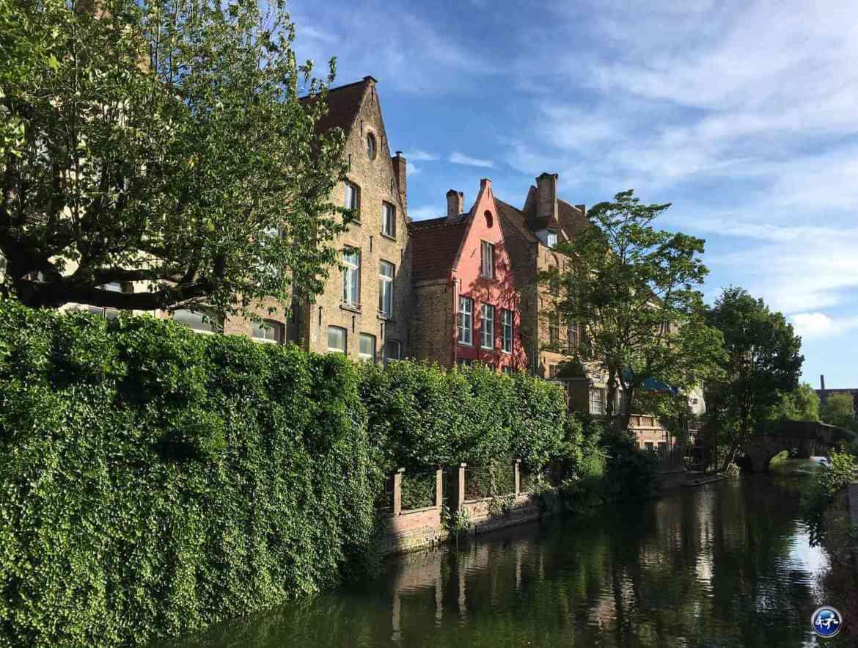 Les canaux de Bruges en Belgique