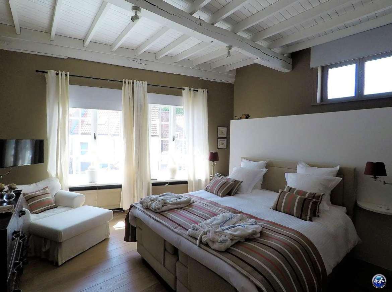 Notre chambre dans le Bed and breakfast à Bruges, la Maison Amodio
