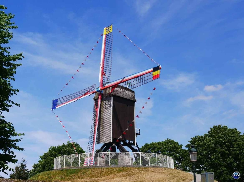 Les moulins à Bruges en Belgique