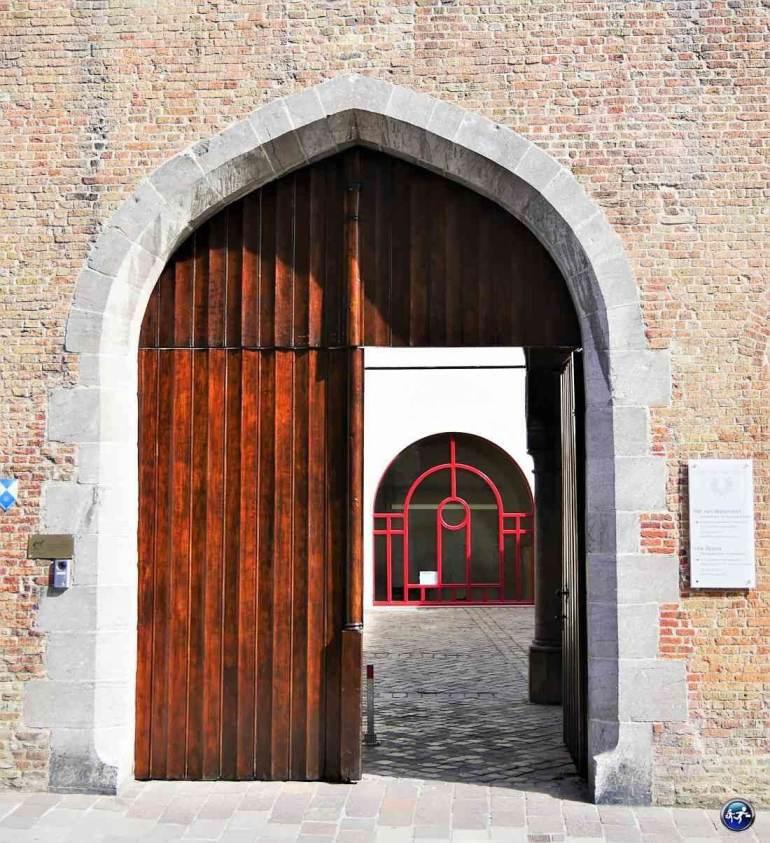 Détails ruelles de Bruges en week-end