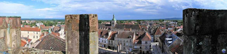 Vue sur la ville de Luxeuil-les-Bains depuis la Tour des Echevins