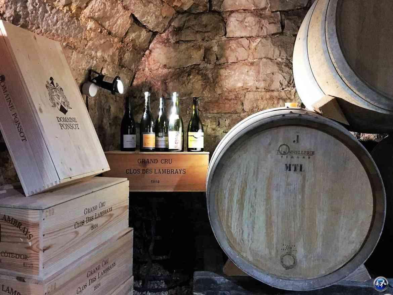 Cave de la Côte de Nuits en Bourgogne