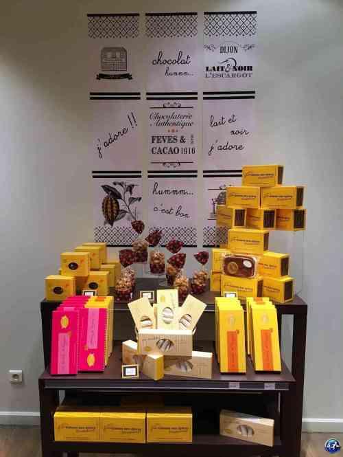 Chocolaterie découverte lors de notre visite à Dijon