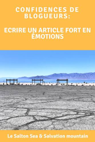 Ecriture article les coulisses du Salton Sea Pinterest