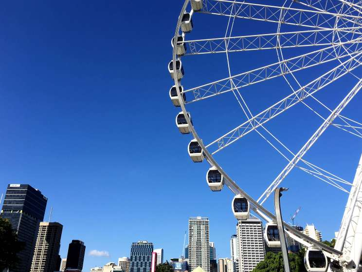 Vue de Brisbane et la Grande roue