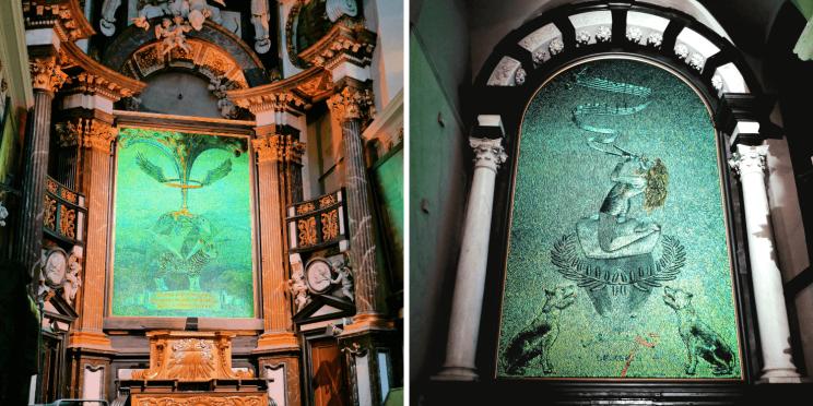 Les oeuvres de Jean Fabre à Amuz l'église desacralisée à Anvers