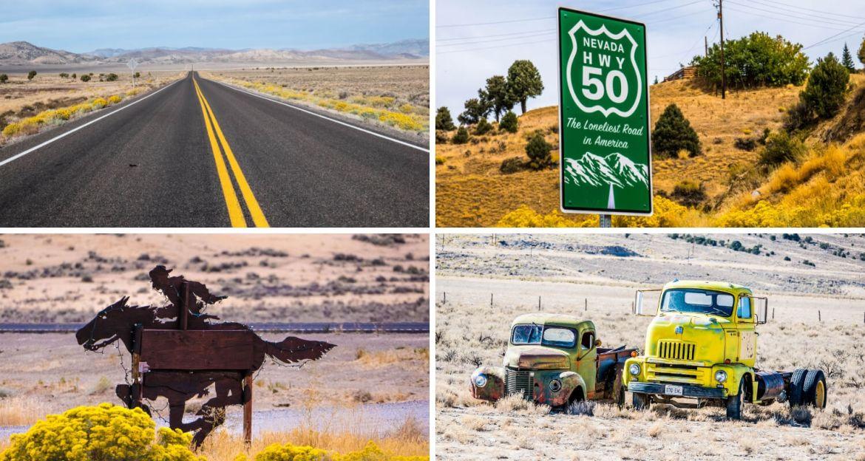 Route 50 dans le Nevada la plus solitaire des Etats-Unis