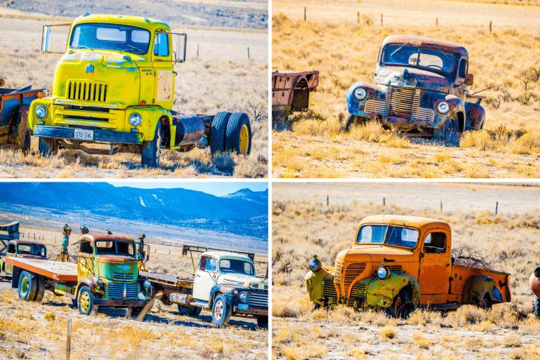 Epaves de camions à Ely