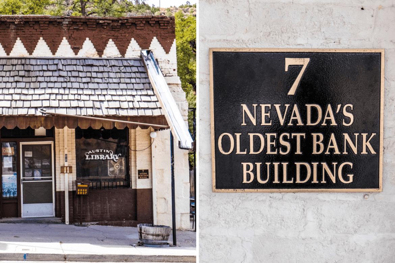 La plus vieille banque du Nevada à Austin