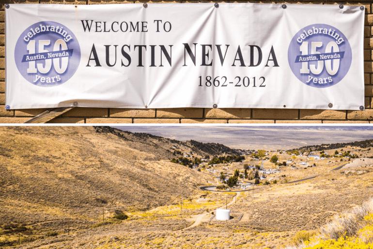 Visiter Austin sur la route 50 Nevada