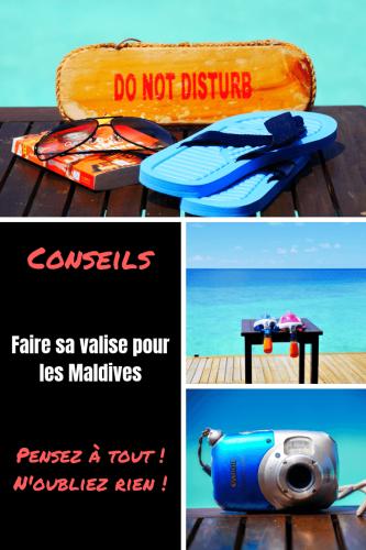 Faire sa valise pour les Maldives Pinterest