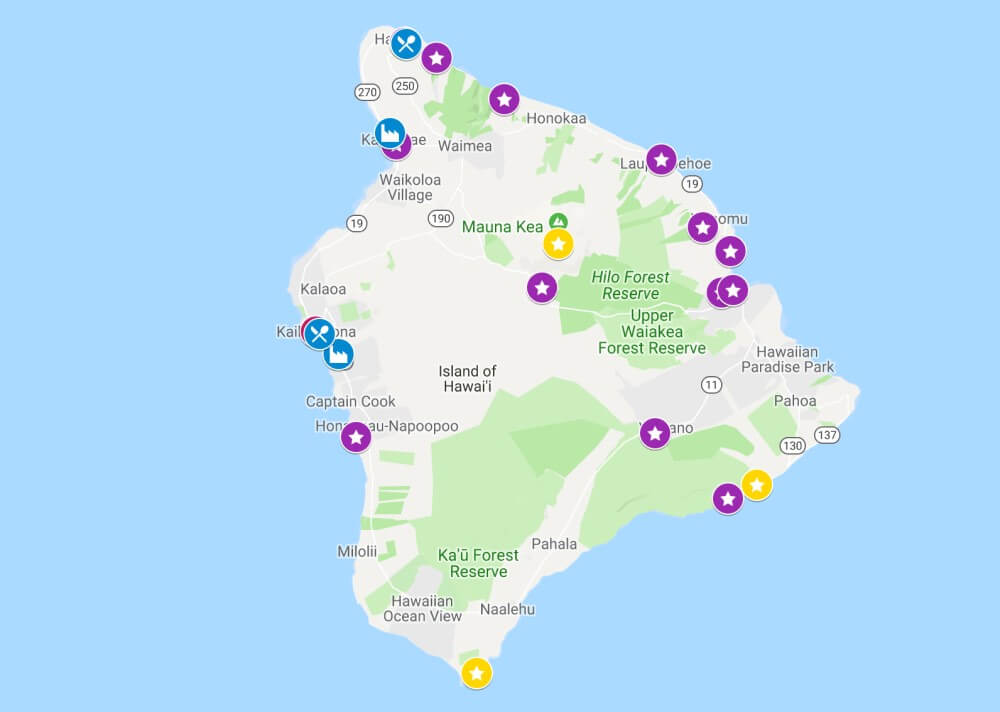 Carte visiter Big Island