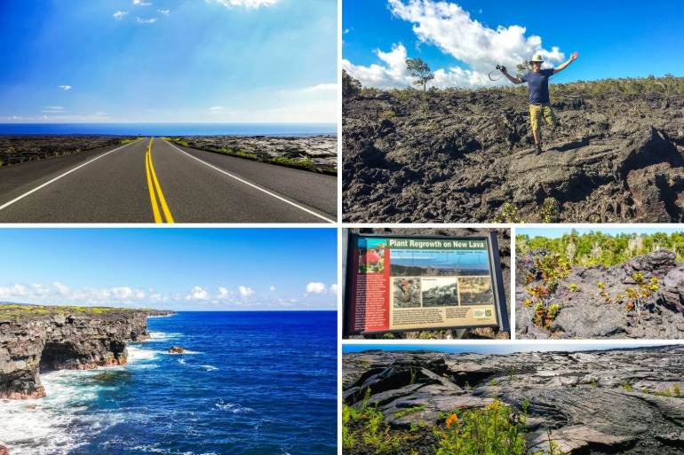 Chain of Crater road Big island