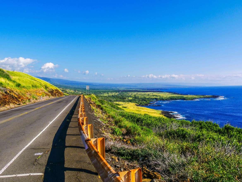 Route 11 menant au parc national des Volcans