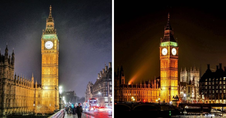 Observer Big Ben de nuit à Londres