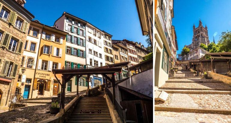Escaliers du Marché Lausanne
