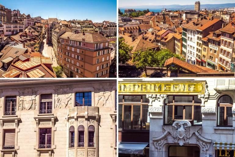 Les petites rues de Lausanne