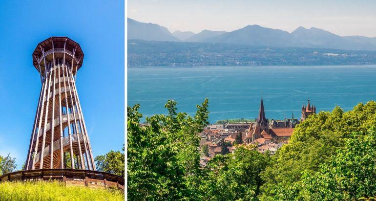 Vue depuis Sauvabelin Lausanne