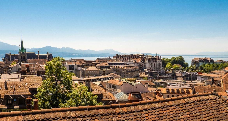 Vue sur Lausanne depuis la Place de la Cathédrale