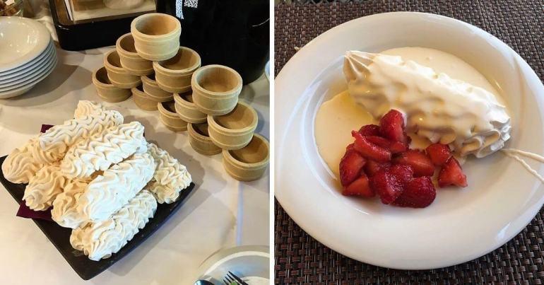 Buffet de dessert à l'Hôtel Cailler