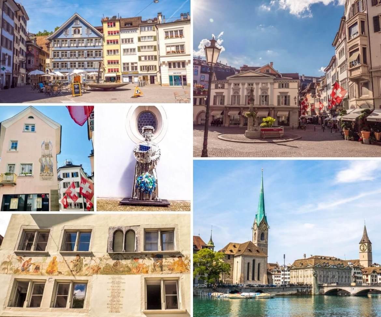 Visiter Rive gauche Vieille ville de Zurich