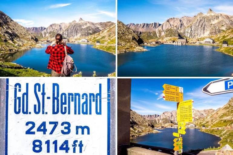 Paysage du Col du Grand-Saint-Bernard avec le lac