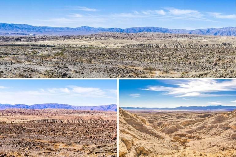 Badlands de l'Anza Borrego Desert State Park