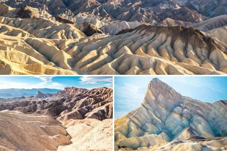 Badlands Zabriskie désert Death Valley