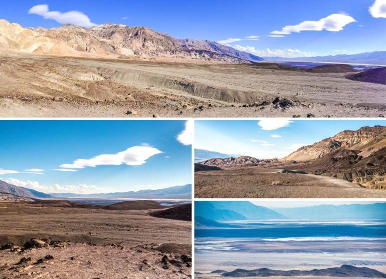 Vues sur désert californien Vallée de la Mort