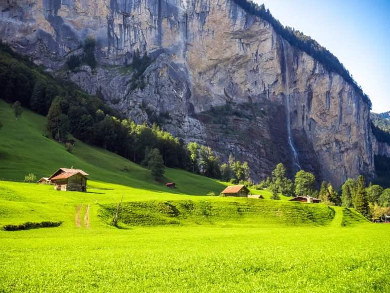 Cascade Lauterbrunnen randonnée