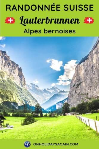 Randonnée Suisse Lauterbrunnen Alpes bernoises