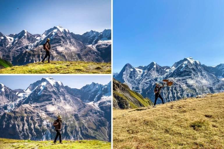 Schilthorn randonnée Grauseeli Eiger Monch Jungfrau