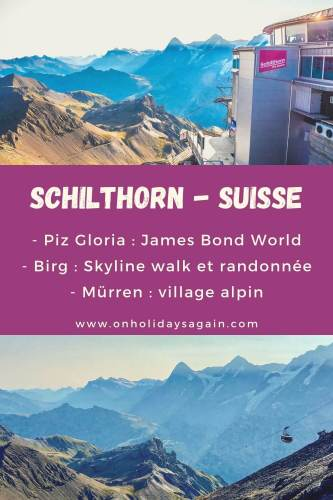 Schilthorn Switzerland Piz Gloria Birg Murren
