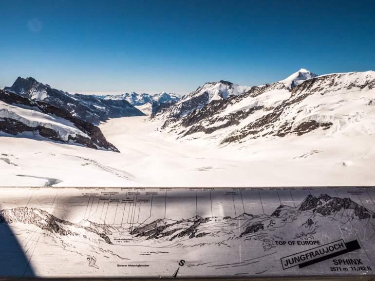 Jungfraujoch vue sur Aletsch