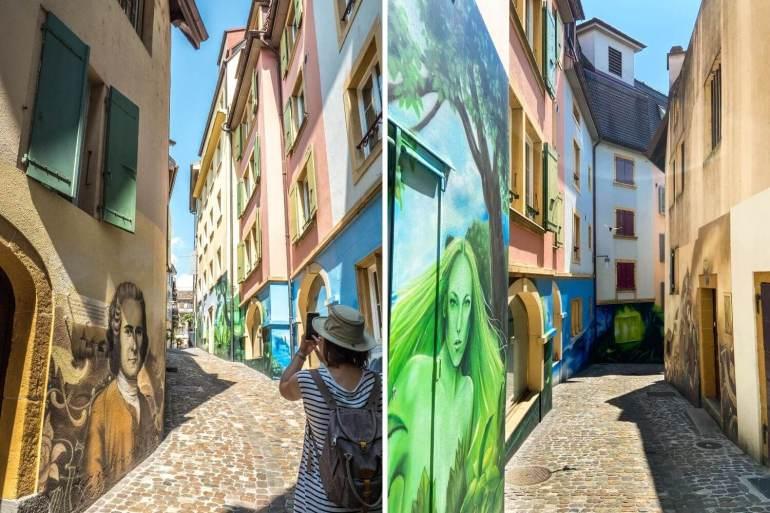 Street art Rue Neubourg à visiter à Neuchâtel