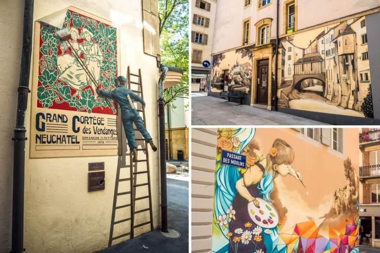 Street art Vieille ville Neuchâtel