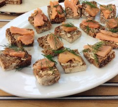 Pickled salmon on rye - for Borough Market recipe and demonstration.